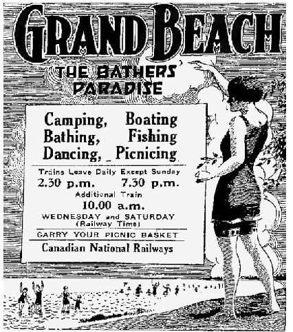 Grand Beach is a favorite place to go for  many Manitobans. It was once rates among the top ten beaches in the world and it is only an hours drive from Winnipeg, the capital of Manitoba.