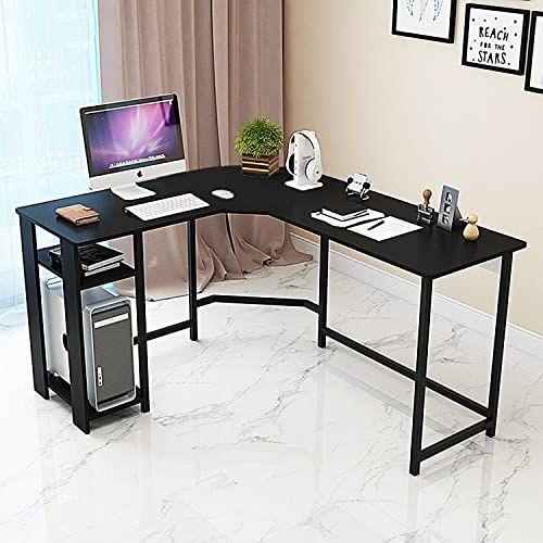 Best Seller Ty Arts Culture L Shaped Corner Desk Gaming Desk Pc Table Office Computer Desk Wood Laptop Black Frame Work Station Study Home Office Furniture In 2020 L Shaped