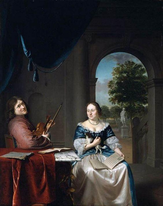 SLINGELAND, Pieter Cornelisz. van Johannes van Musschenbroeck and His Wife 1685-88
