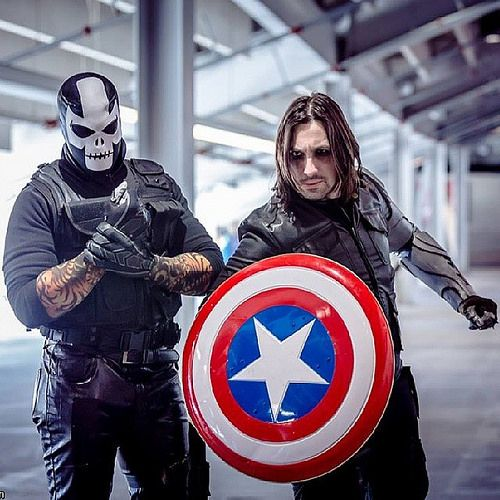 Characters: Crossbones & Winter Soldier Cosplayers: Ryan ...