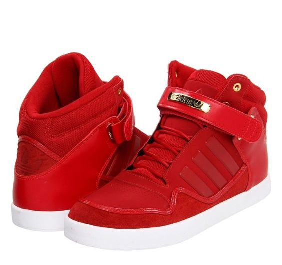 Adidas High Tops Red