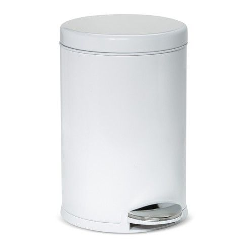 4 5l Round Step Open Trash Can Simplehuman Target With Images