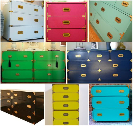 Hammers and High Heels: Sacre Bleu! Drab to Chic & Fab Blue Dresser DIY
