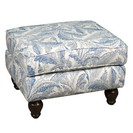 Best Blue Patterned Upholstered Accent Ottoman Home Decore Pinterest Ottomans And Blue 400 x 300