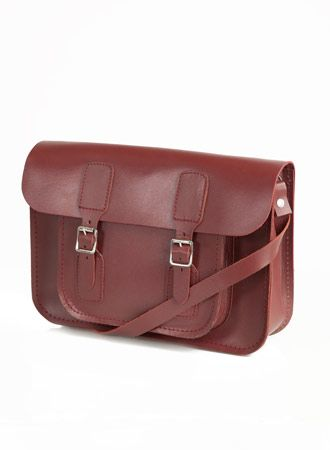 The Oxford Bag Company Leather Satchel Small Ox Blood, Unisex bags ...