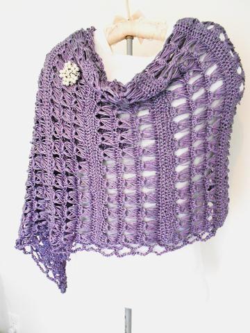 Lacy Spring Wrap - Metallic Purple