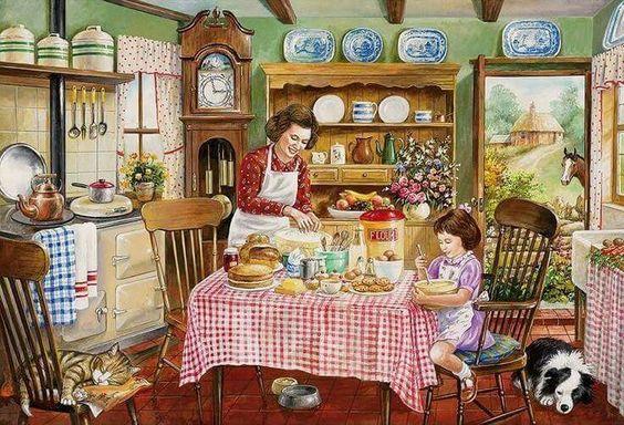 Cocinando juntas