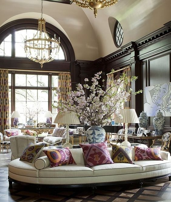 Grand And Elegant Living Room Luxurious Living Rooms Pinterest Traditio