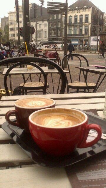 Flat white and cappuccino - caffenation Antwerp - Belgium