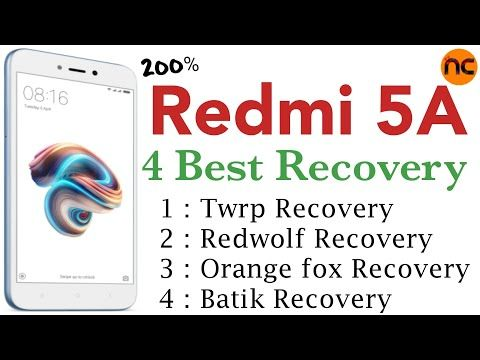 4 Best Recovery For Redmi 5a Youtube Orange Fox Best