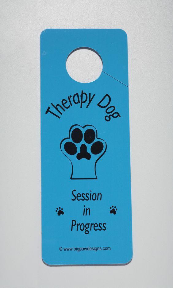 Therapy Dog Door Hangers