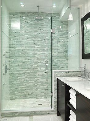 Most Popular Small Bathroom Remodel Ideas On A Budget In 2018 This Beautiful Look Was Created With Cool Colors Bathrooms Remodel Bathroom Design Bathroom Decor