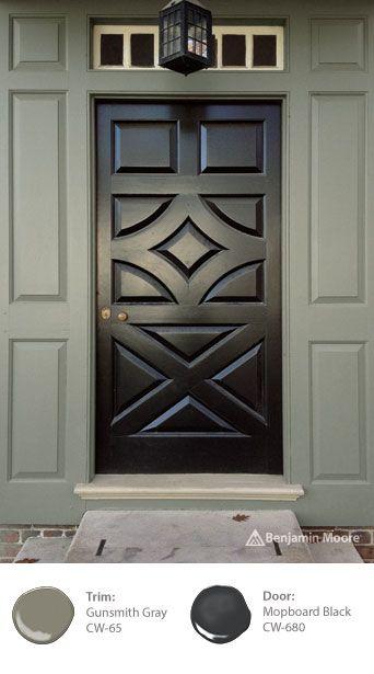 The doors front doors and benjamin moore on pinterest - Long lasting exterior paint design ...