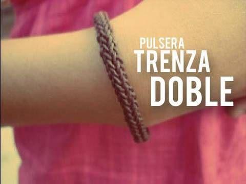 Pulsera: Trenza doble - YouTube
