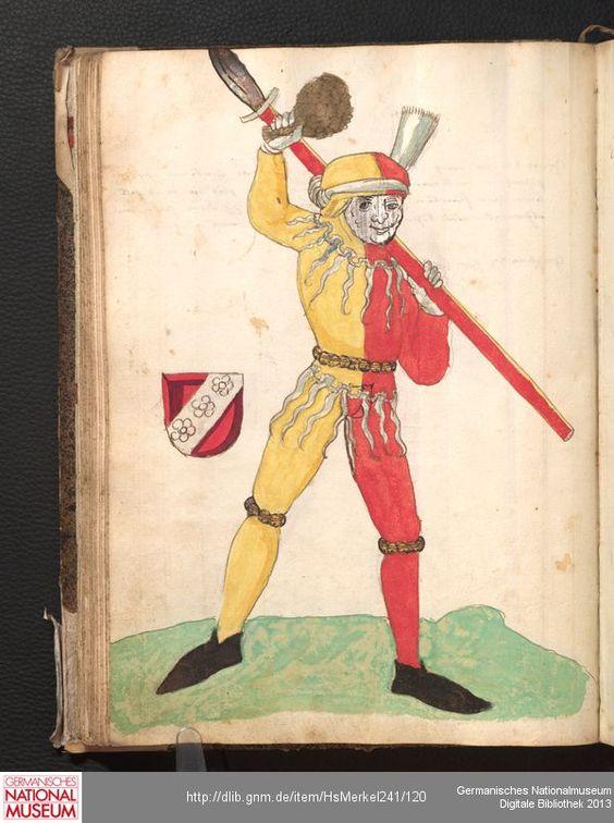 Merkel Hs 2° 241  Schembartbuch [o.O.]: 1551/1600 Illustration: Ulrich Macher (Hautman 1484)