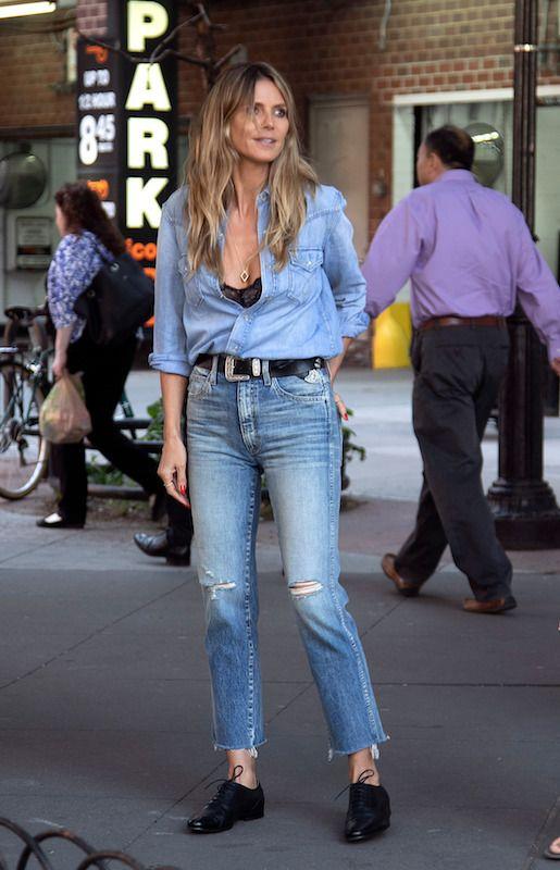 Heidi Klum In Amo Jeans Heidi Klum Style Denim Fashion Fashion