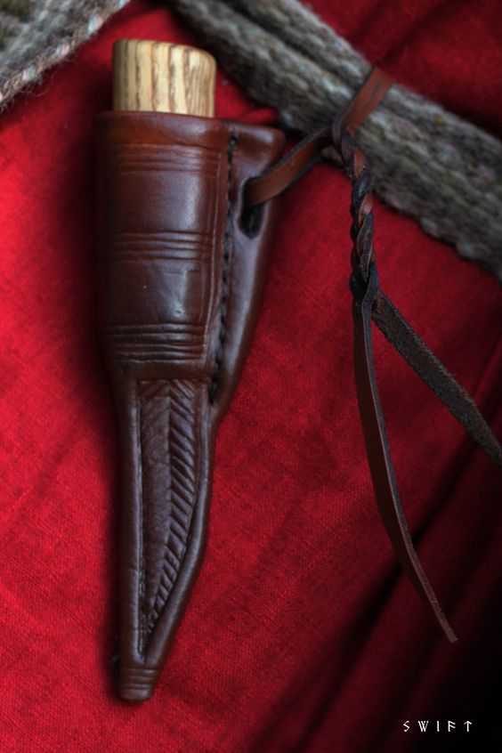 Dublin viking age small knife sheath