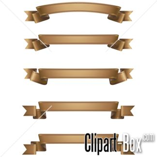 CLIPART GOLD RIBBONS SET