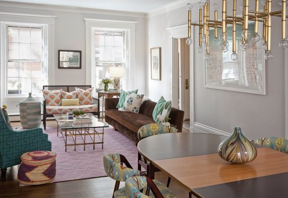 In South End town house, vintage decor - The Boston Globe