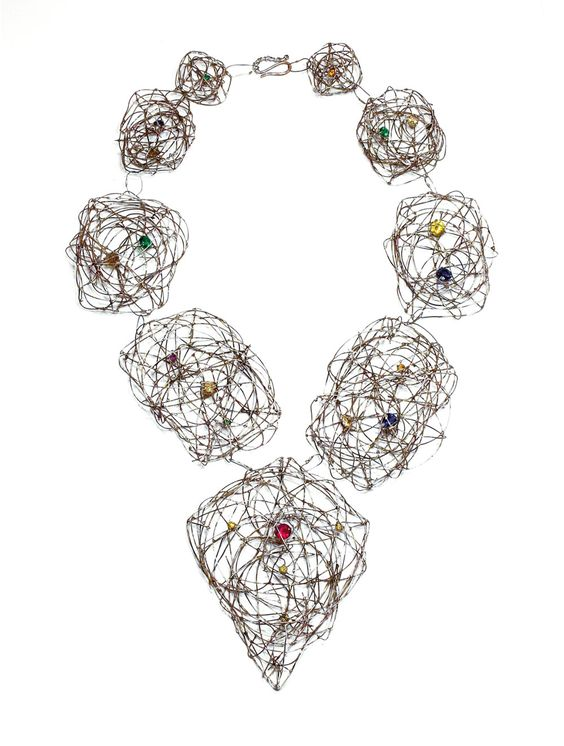Jürgen Eickhoff Necklace: Untitled, 2015 935 silver, synthetic stones