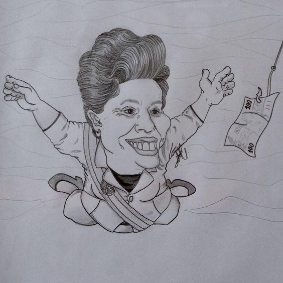 Caricatura feita com grafite 0,07mm em papel A4