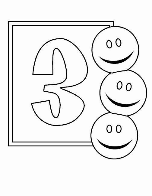 Number 13 Coloring Page New Desenhos Numeros Tres 3 Colorir E Pintar Qdb In 2020 Coloring Pages Free Printable Coloring Pages Coloring Pages For Kids
