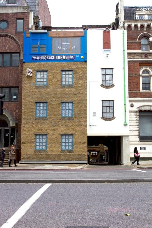 Blackfriars house gets flipped upside down by Alex Chinneck