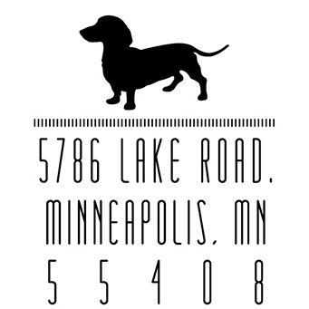 Dachshund Silhouette Address Stamp