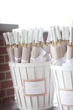 """White Wedding Parasols are Perfect Wedding Decoration and Wedding Accessories! You can even paint it with """"Mr & Mrs."""" Or """"Thank You""""."""