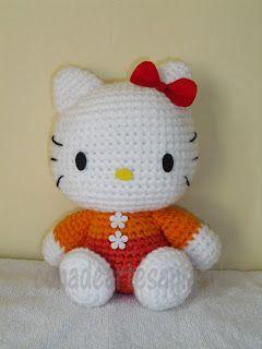 Amigurumi, Con a and Hello kitty on Pinterest