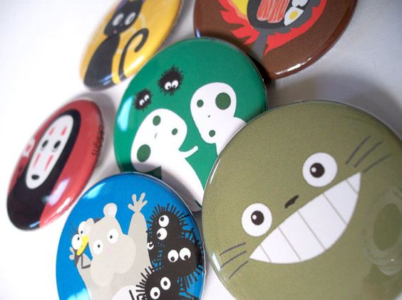Totoro & Studio Ghibli - 6 magnets - 1.5""