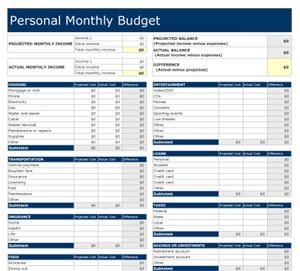 Monthly Budget Planner Template. free monthly budget template ...
