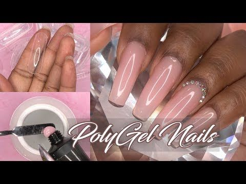 983 Polygel Nails With Dual Forms Natural Gel Nails Makartt
