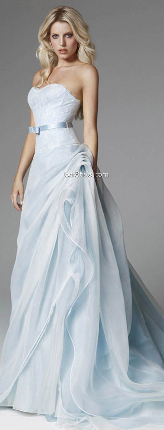 This is the colour my mother had wanted me to get married in. An ice blue.  Blumarine 2013 Bridal Collection