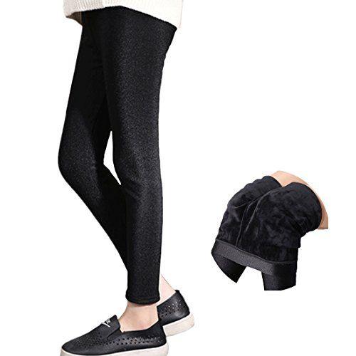 Baby Girls Kids Winter Warmer Stretch Thick Plus Velvet Leggings Trousers Pants