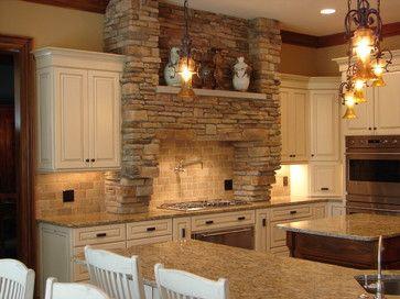 Kitchen Cabinets With Stone Backsplash Farmersagentartruizcom
