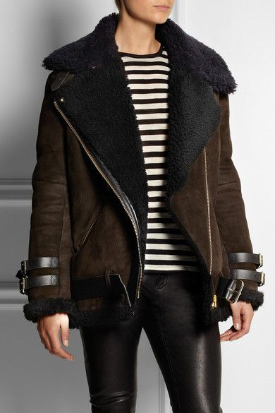 Acne Velocite Shearling Biker Jacket | I want that! | Pinterest