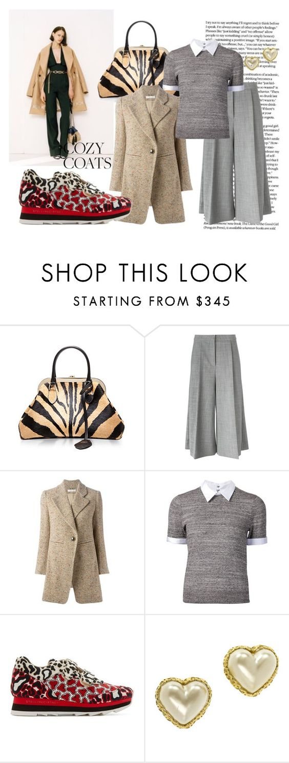 """""""Coats without the Coverup"""" by kjsafl on Polyvore featuring Alessandra Rich, Rochas, STELLA McCARTNEY, Chloé, Alice + Olivia and Chanel"""