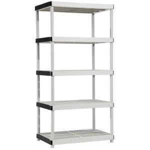 5 Shelf 24 In D X 36 In W X 72 In H Plastic Ventilated