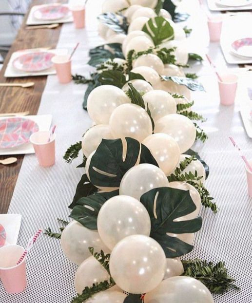 New The 10 All Time Best Home Decor In The World Magnifique Chemin De Table Le Melange Des Ballons Ave Baby Shower Decorations Neutral Elegant Baby Shower