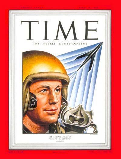 TIME Cover: Chuck Yeager (Boris Artzybasheff, 1949)