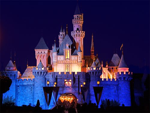disneyland castle at night - Google Search