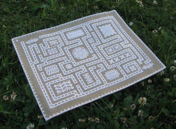 Embroidery KIt: Hapsburg Lace Maze Sampler by TanjasHandEmbroidery