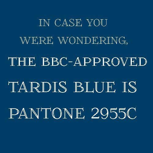 Now I can finally paint something the TARDIS color!!!!