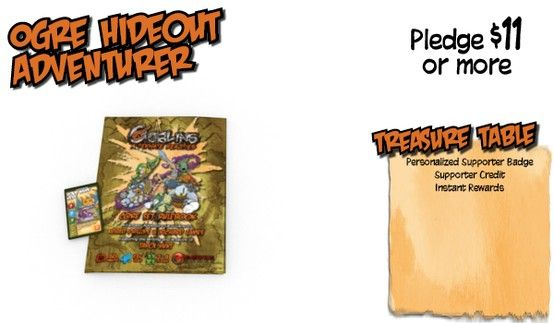 Ogre Hideout Level Supporter Rewards for Kickstarter Campaign #GoblinsGame