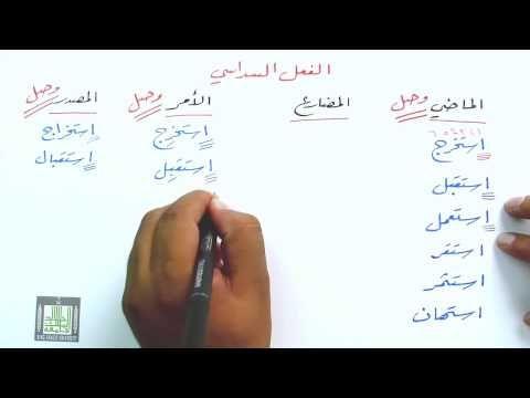 همزة الوصل والقطع في الأفعال٥ Youtube Math Youtube Math Equations