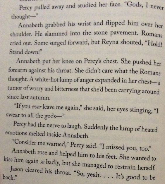 Percabeth is finally reunited and Annabeth judo flips him!!