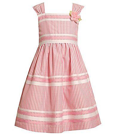 Bonnie Jean 716 and Plus Size Striped Linen Dress #Dillards