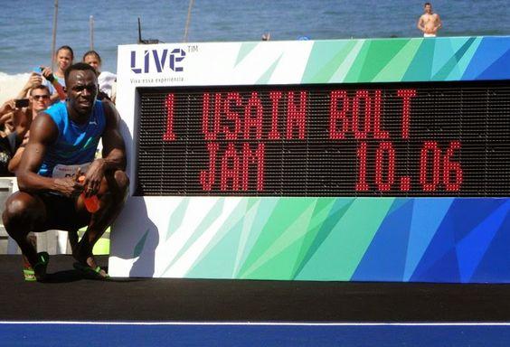 Blog Esportivo do Suíço: Bolt vence desafio no Rio com tempo de 10s06