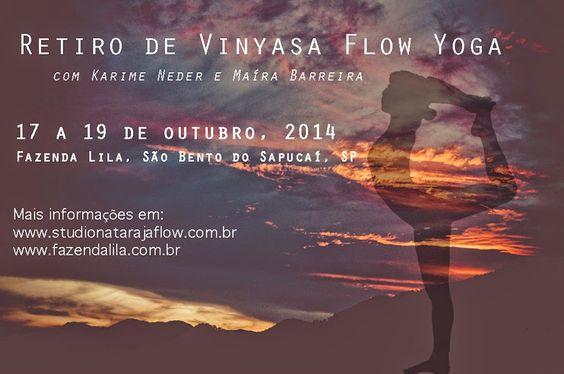 17 a 19 de outubro Retiro de Vinyasa Flow Yoga